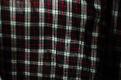 Close up of fabric plaid texture. Geometric background. Dark cru Stock Photo