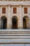 Close up facade church in  the Royal Site of San Lorenzo de El E Stock Images