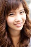 Close up face active woman. Stock Image