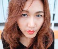 Close up face asian beauty Stock Photos