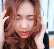 Close up face asian beauty Stock Photo