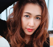 Close up face asian beauty Royalty Free Stock Photos