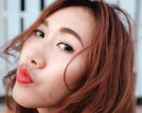 Close up face asian beauty Royalty Free Stock Photography
