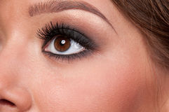Close-up face of glamour woman Stock Photos