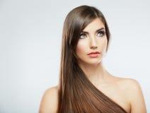 Close up face. Long hair Royalty Free Stock Photography