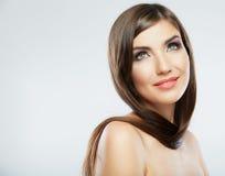 Close up face. Long hair Royalty Free Stock Photos