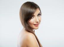Close up face. Long hair Stock Photography