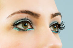 Close up of face with makeup Royalty Free Stock Photos