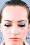 Close up of face with makeup Royalty Free Stock Image