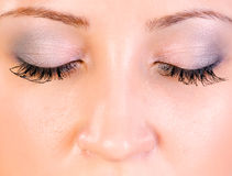 Close up of face with makeup Stock Image