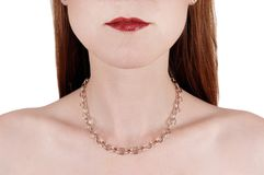 Close-up of face and mouth of woman Royalty Free Stock Photo