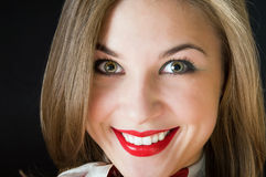 Close Up Face Of Smiling Girl Stock Photos