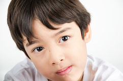Close up face portrait asian boy beautiful eyes. Close up face asian boy beautiful eyes Stock Images