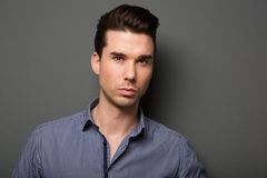 Close up face portrait of an attractive young man Stock Photography