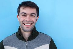Close up face portrait of a young man smiling Stock Photography