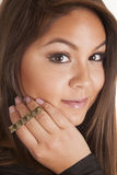 Close up face ring fingers Stock Image