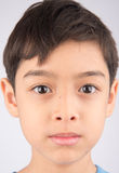 Close up face with smiling kid Stock Photo