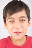 Close up face with smiling kid Stock Photography