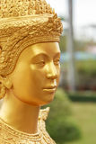 Close up face Thai style angel statue Royalty Free Stock Photography