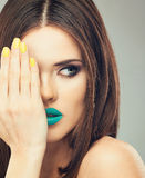 Close up face woman model in beauty Stock Image
