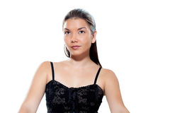 Close up face of a young woman Stock Images