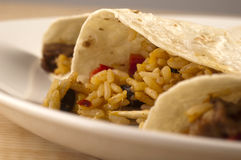 Close up of Fajitas Royalty Free Stock Photos