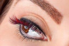 Close-up of false eyelashes Stock Photo
