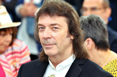 A close up of the famous guitarist, Steve Hackett. A close up of the famous Genesis guitarist, Steve Hackett, Varazze, Italy May 8 2015 Royalty Free Stock Photography