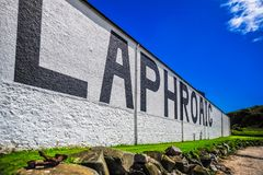 The Laphroaig Distillery. A close up of the famous Laphroaig Distillery, Islay, Scotland Royalty Free Stock Photography