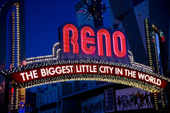 Close Up of the Famous Reno Sign Royalty Free Stock Image