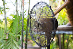 Close up of fan outdoors Royalty Free Stock Images
