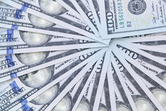 Close up of fan shaped dollars Royalty Free Stock Photos