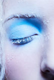 Close-up of fantasy make-up Stock Images