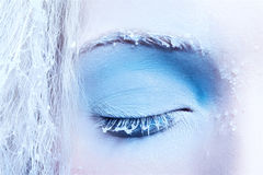 Close-up of fantasy make-up Royalty Free Stock Image