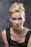 Close up of fashion hair stylish girl Stock Photo