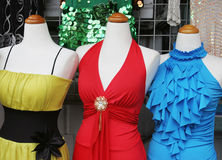 Close-up of fashion mannequins Stock Image