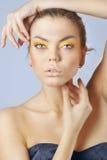 Close-up of a fashion model. Posing Stock Photo