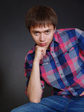 Close up Fashion Shot of a Young Man Stock Images