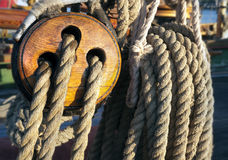Close-up of a fasten rope Stock Photography