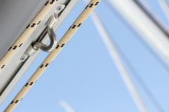 Close-up of a fasten rope Royalty Free Stock Images