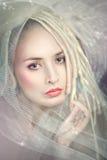 Close up feericamente romântico da mulher. Foto de Stock