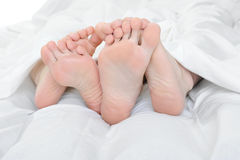Close-up of the feet Royalty Free Stock Image