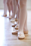 Close Up Of Feet In Children's Ballet Dancing Class Royalty Free Stock Photos