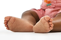 Close-up of feet of Indian baby Royalty Free Stock Image