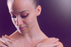 Close Up Of A Female Ballet Dancer Stock Photography