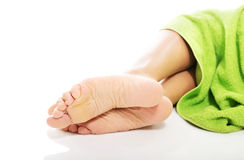 Close up on female bare feet Royalty Free Stock Image