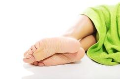 Close up on female bare feet Royalty Free Stock Image