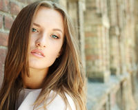 Close-up female beauty portrait Royalty Free Stock Images