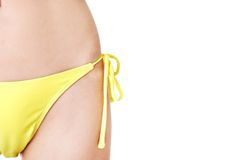 Close up on female body in swimsuit Stock Photography
