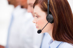 Close-up of a female customer service agent Stock Image